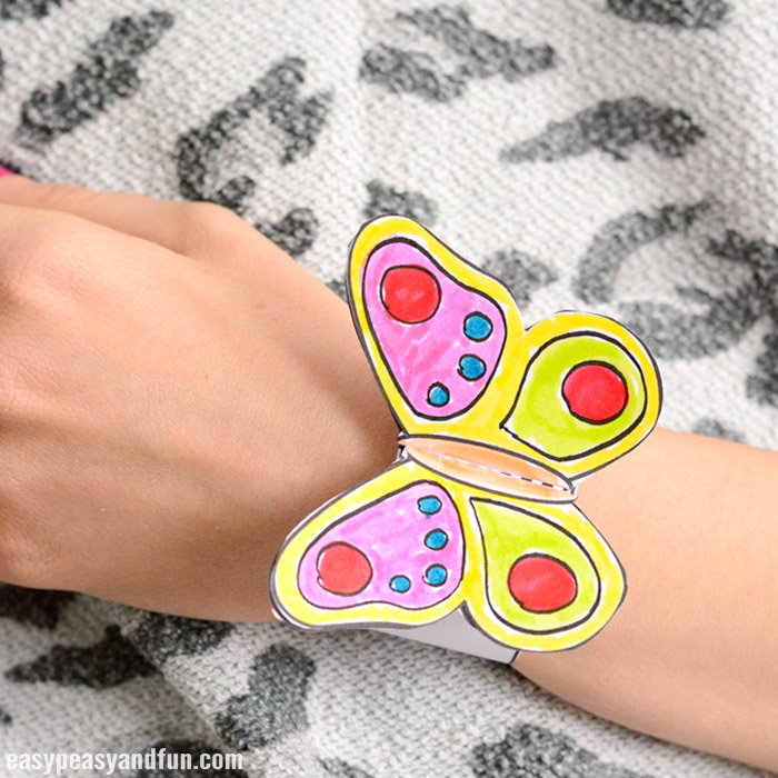 heart paper bracelets for kids butterfly paper bracelets for easy peasy and 6704
