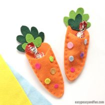 Carrot Treat Pouch Easter Felt Pattern