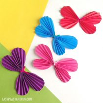 How to Make a Paper Butterfly – Template Included