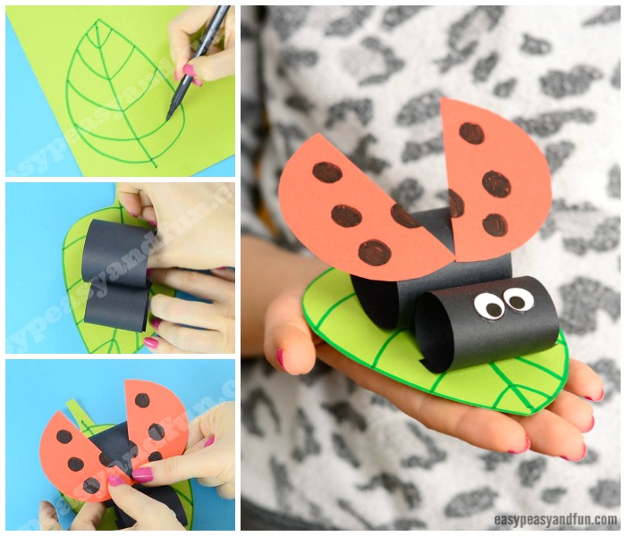 Construction Paper Ladybug Craft