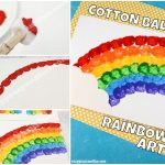 Cotton Ball Rainbow Art