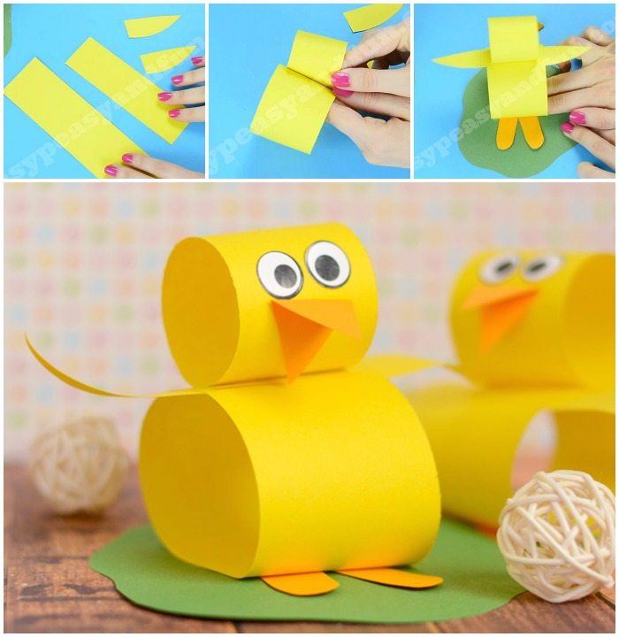 Cute Construction Paper Chick Craft