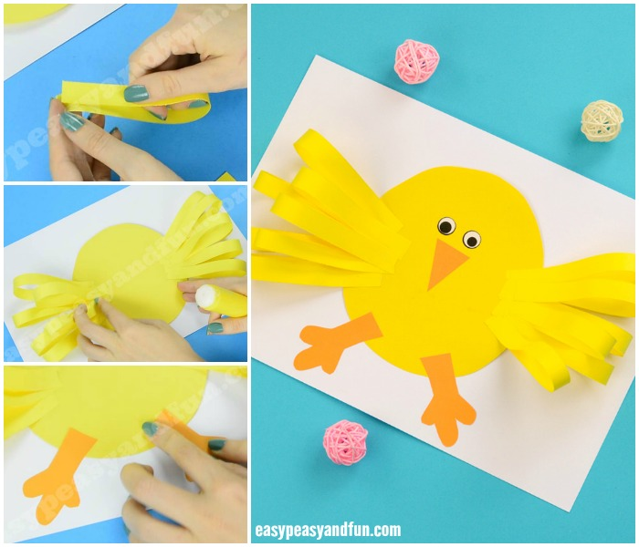 Cute Easter Chick Paper Craft