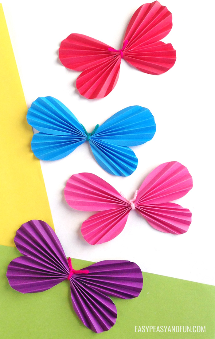 DIY Easy Construction Paper Butterflies