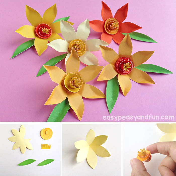 DIY Paper Daffodils with a Free Printable Template