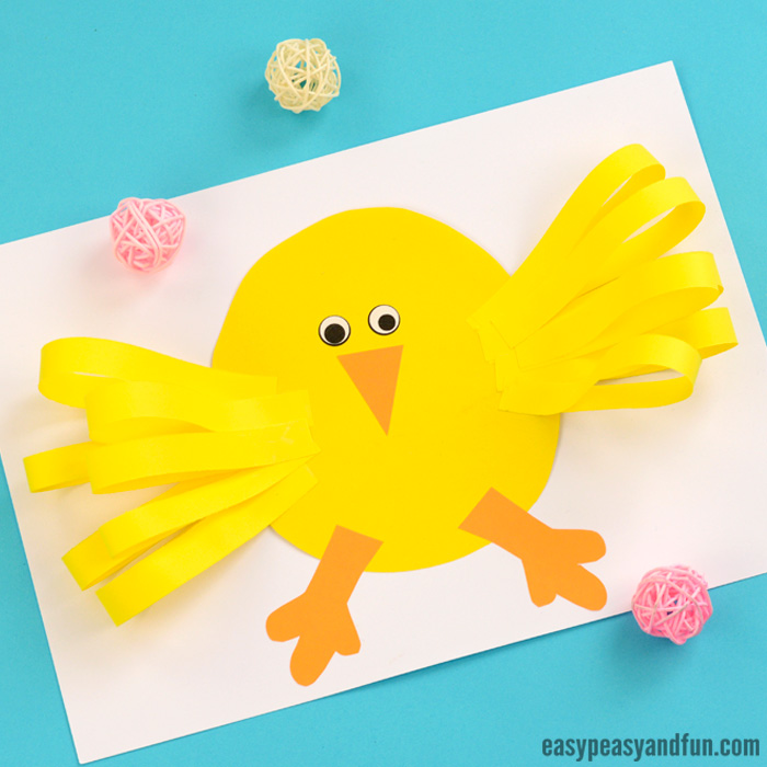 Easter Chick Paper Craft Idea