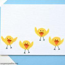 Adorable Cork Chicks Craft Idea (cute as fingerprint art too)