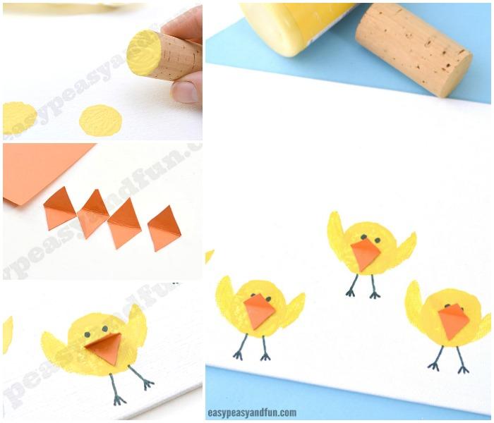 Easter Cork Chicks Craft for Kids