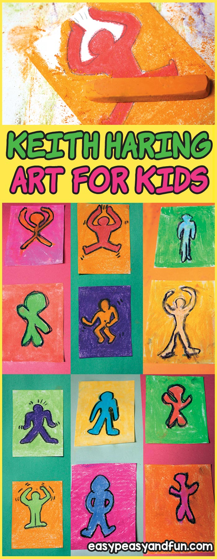 Keith Haring Art For Kids - Pop Art Lesson to do at home or in the classroom