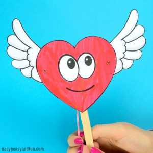 Movable Heart Paper Doll Craft for Kids