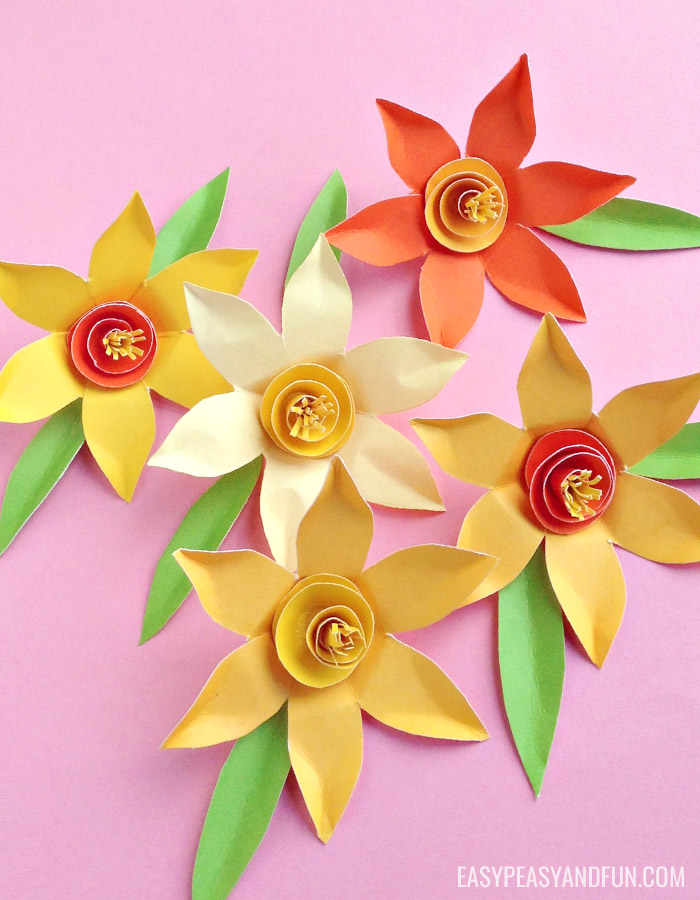 Paper Daffodils Craft with Template