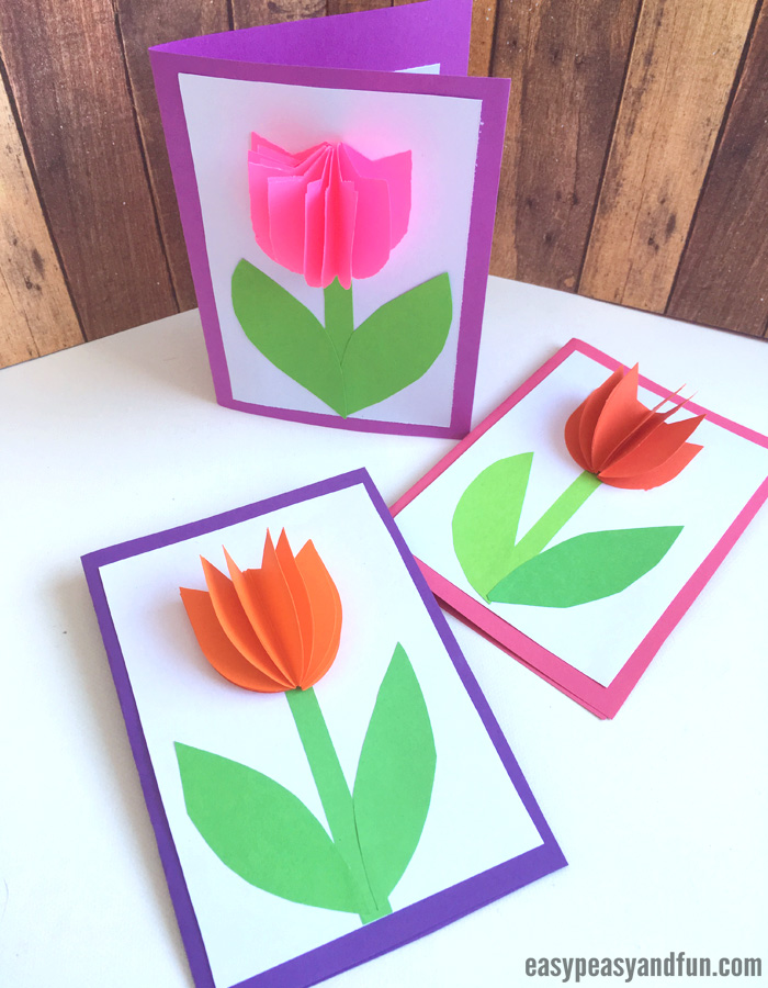 Paper Tulip Card Craft