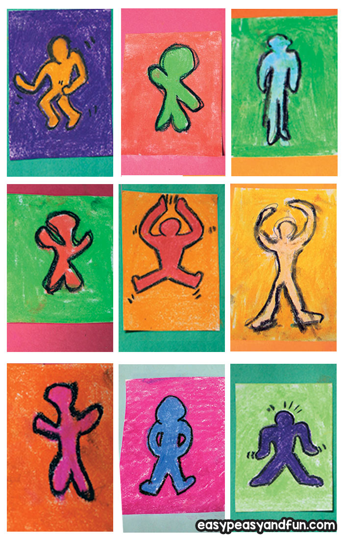 Pop Art Lesson for Kid - Keith Haring Inspired Art Idea