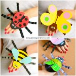 printable bug puppets printable bug paper rings for craft template easy 2758