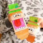 Printable Leprechaun Puppet Craft