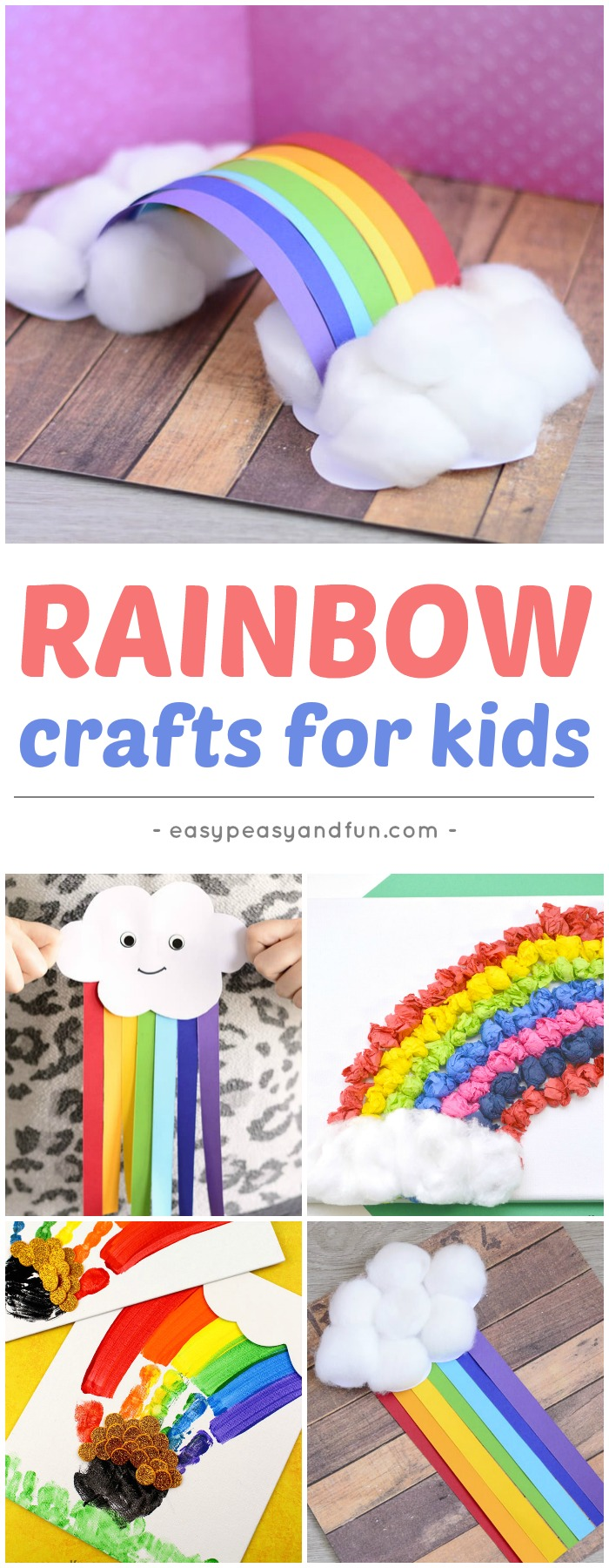 Rainbow Crafts for Kids #rainbowcrafts #Springcrafts #craftsforkids