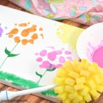 Spring Flowers Sponge Painting Art