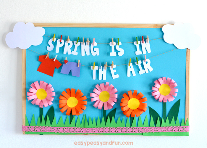 Spring is in the air bulletin board idea