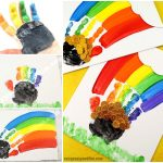 St. Patrick's Day Handprint Rainbow Canvas Art