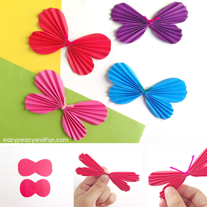 Step by Step Instructions for Making a Paper Butterfly