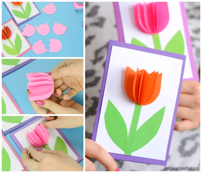 Tulip Card Paper Craft for Kids