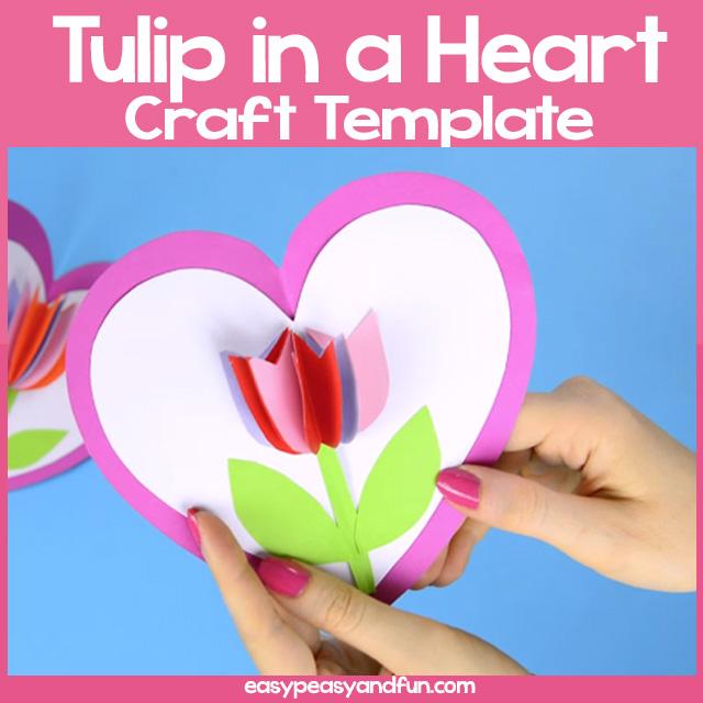 Tulip-in-a-Heart-Card-Template