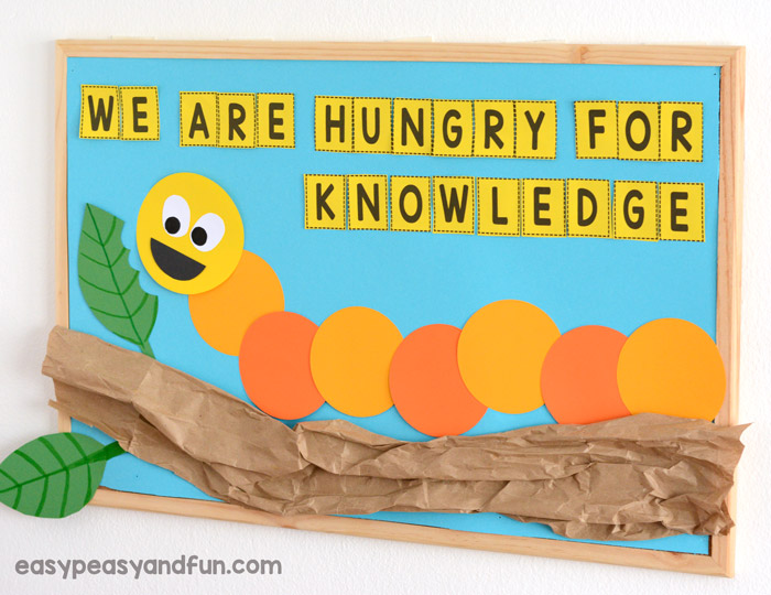 We Are hungry for Knowledge Caterpillar Bulletin Board