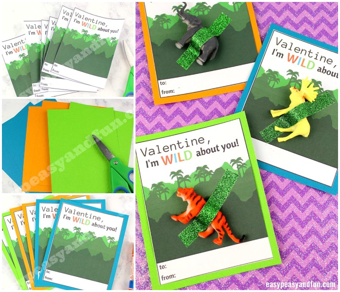 """Wild About You"" Valentine Printable Craft for Kids"
