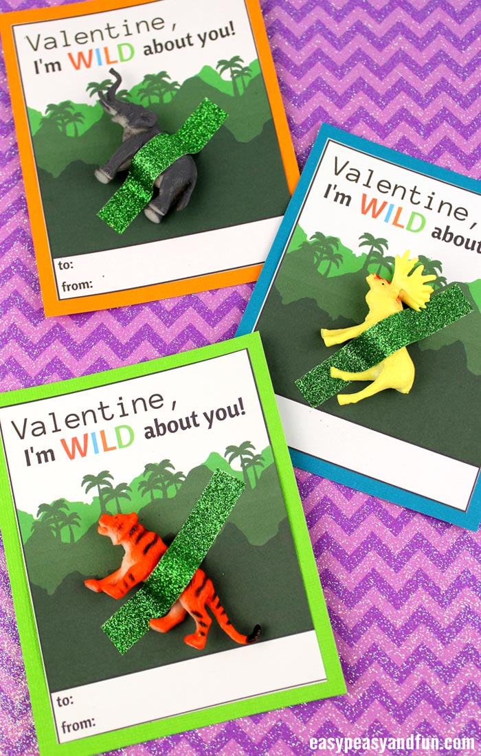 Wild About You Valentine Printables for Kids