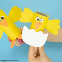 Chick Toilet Paper Roll Craft – Easy Easter Craft Idea