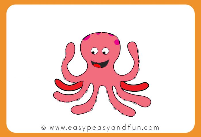 picture about Octopus Template Printable titled How toward Attract an Octopus - Basic Peasy and Entertaining