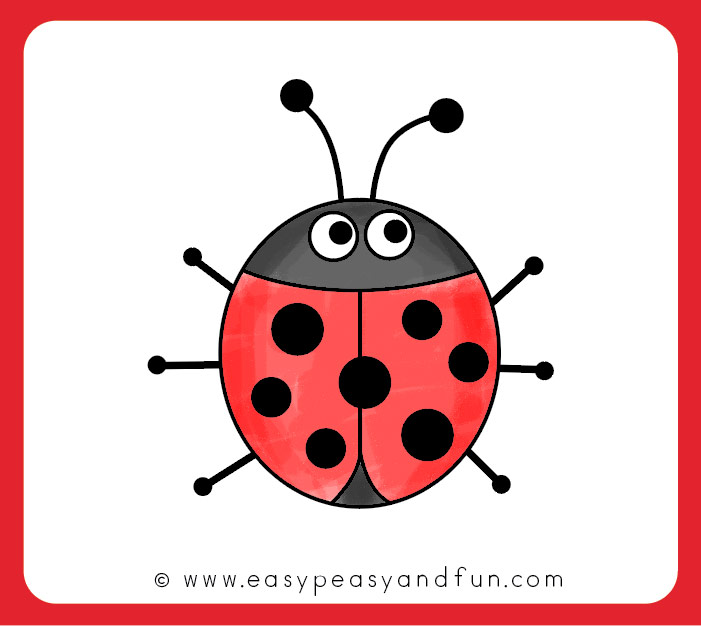 Color your ladybug drawing
