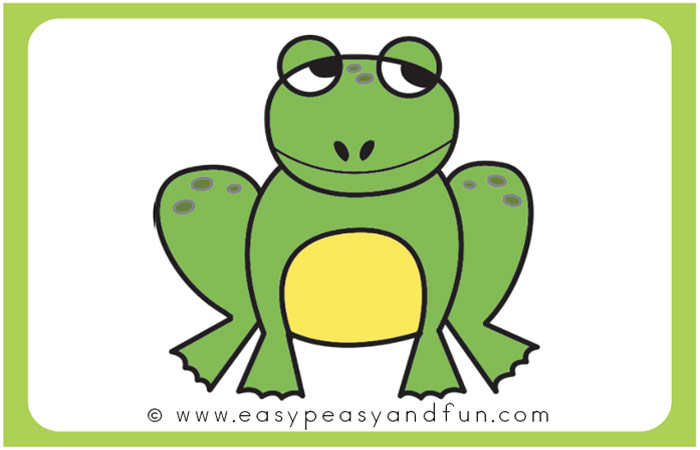 Color your frog drawing