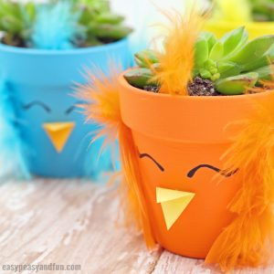 DIY Easter Chick Planter Craft Idea for Kids