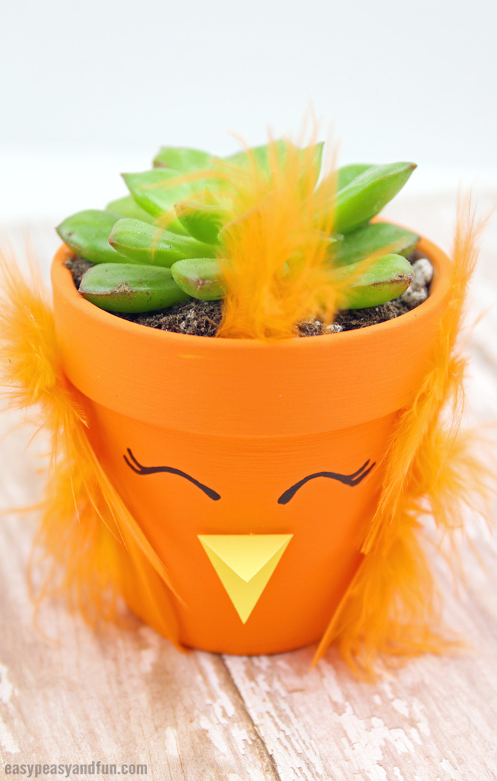DIY Easter Chick Planter Craft for Kids