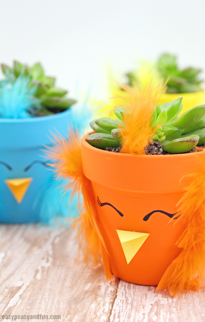 DIY Easter Chick Planter Craft
