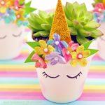 Unicorn Planter – Magical DIY Succulent Plant Pot Idea