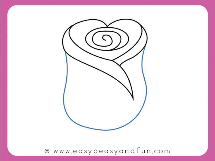 How To Draw A Rose Easy Step By Step For Beginners And