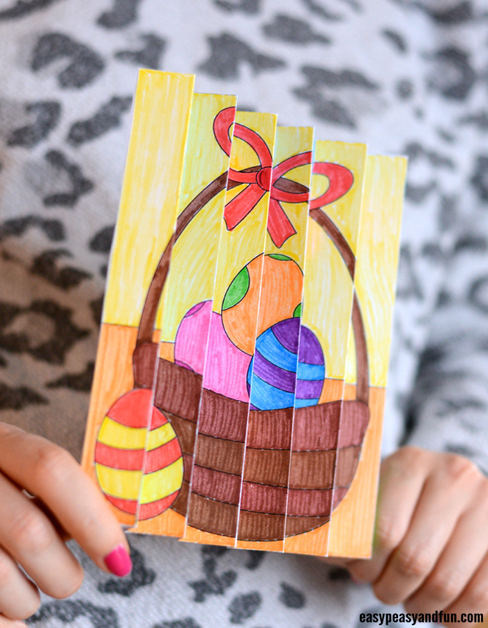 Easter Agamograph Template Craft