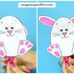 Easter Bunny Puppet Easter Craft for Kids