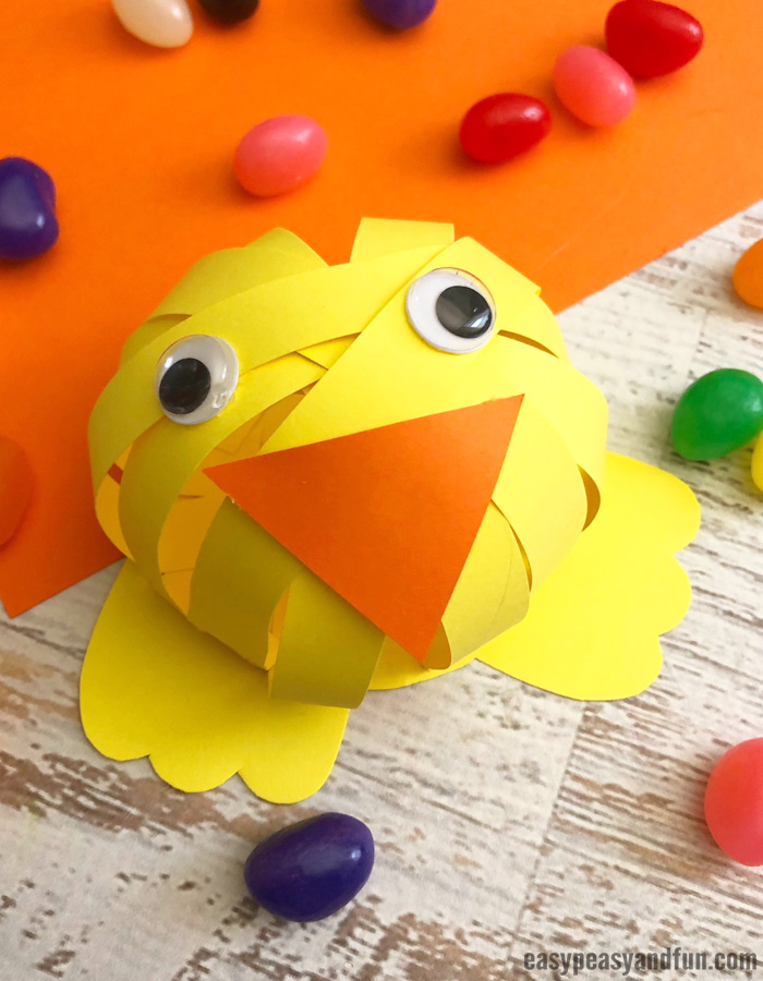 Easter Chick Construction Paper Craft for Kids
