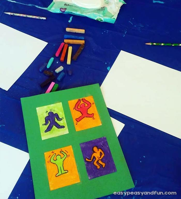 Glue the pictures on colorful paper