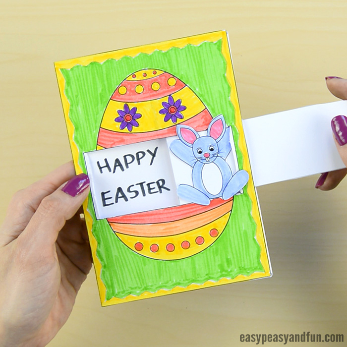 Hidden Message Easter Card Idea