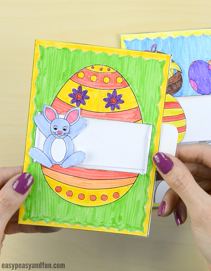 Hidden Message Easter Card Paper Craft for Kids