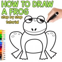 How to Draw a Frog – Step by Step Drawing Instructions