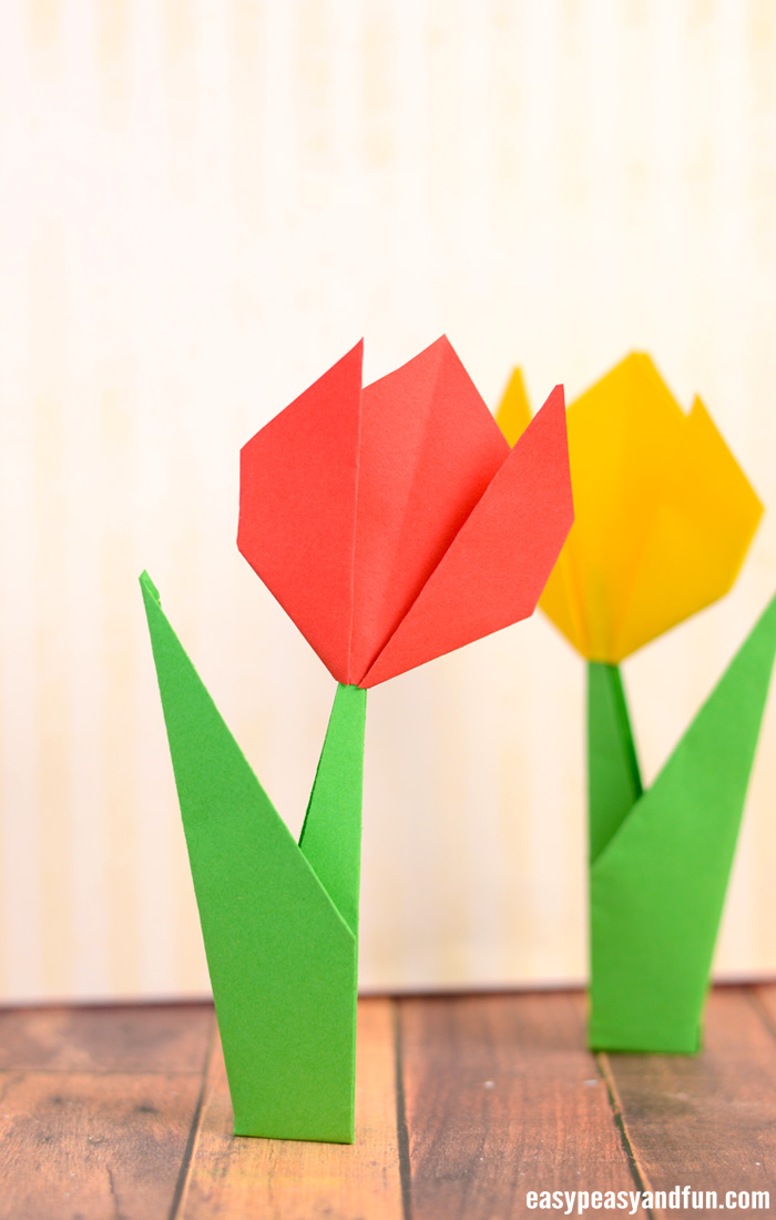 How to make origami flowers origami tulip tutorial with diagram how to make a origami tulip mightylinksfo