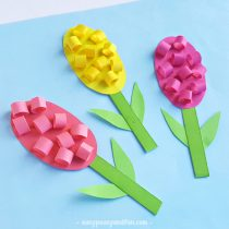 25 wonderful flower crafts ideas for kids and parents to make paper hyacinths flower craft for kids mightylinksfo