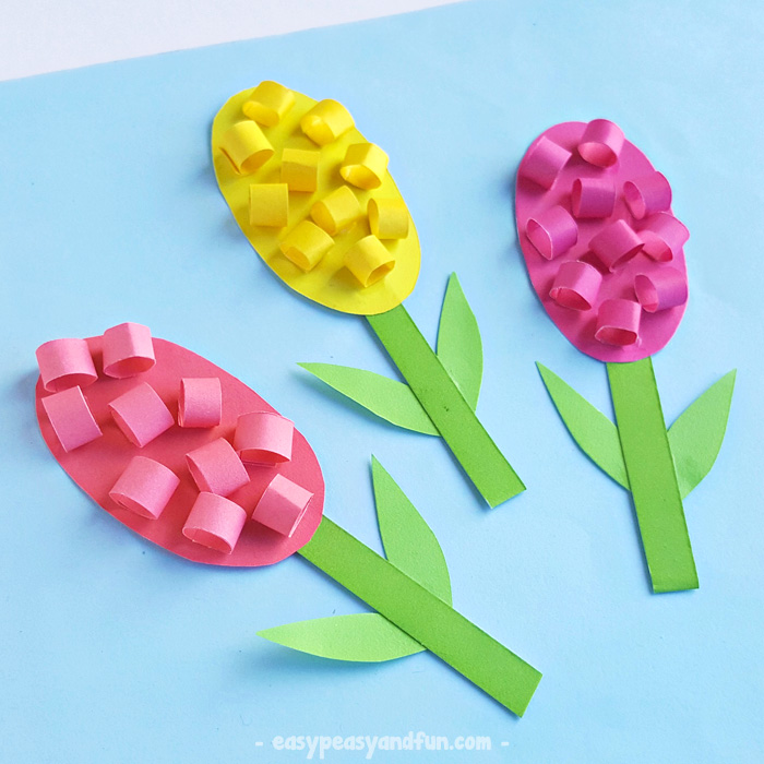 Hyacinths Flower Craft For Kids