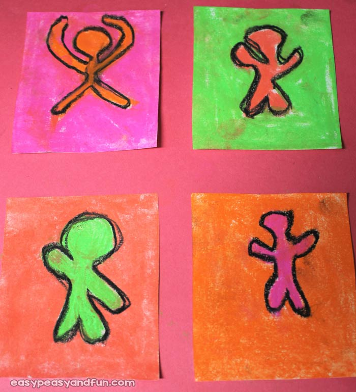 Keith Haring Inspired Art for Kids