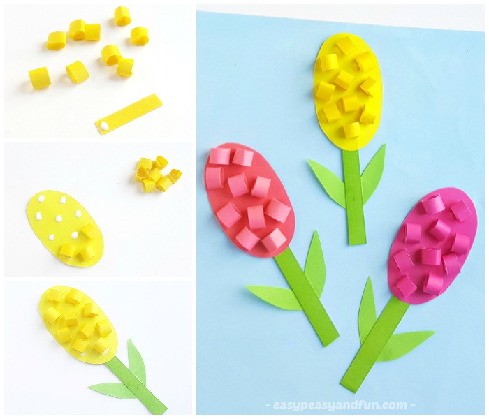 Lovely Hyacinths Flower Craft For Kids